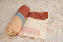 Load image into Gallery viewer, organic muslin rainbow swaddle