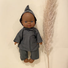 Load image into Gallery viewer, Minikane Blue Linen Mao Set - Dark Grey
