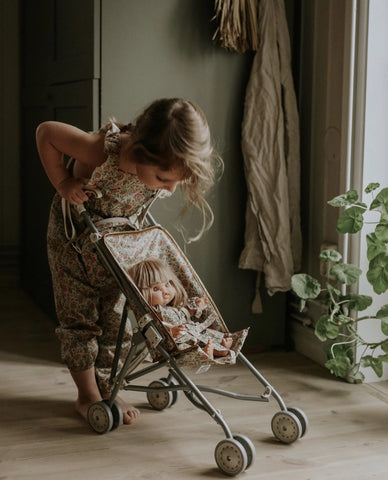Presale - Duo Collection - Sewing Stroller Fleurs en liane in uncoated cotton