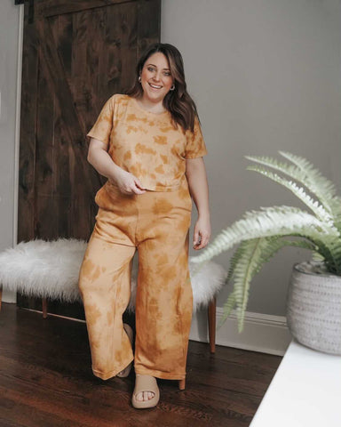 Wide Leg Organic Lounge Pant - Sunset