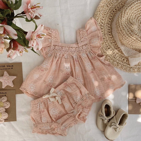 Wild Wawa Paisley 2pc Set Pink
