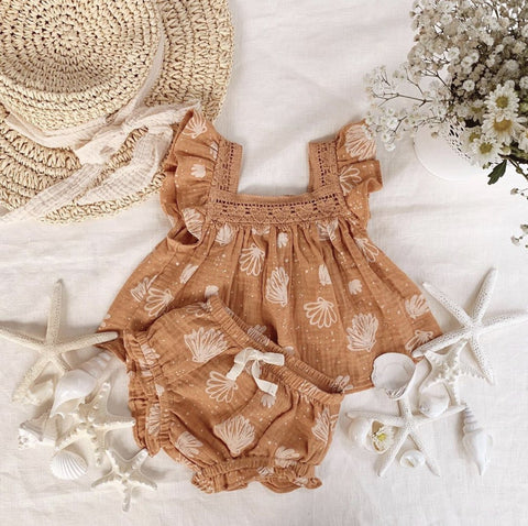 Wild Wawa Paisley 2pc Set Seashell