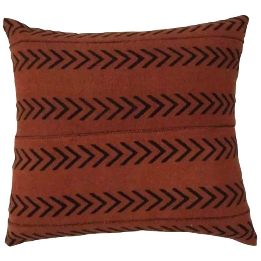 Indian Hand Blocked Mud Cloth, Red Rock