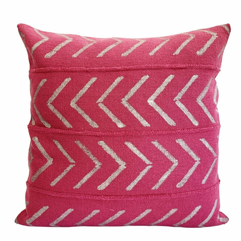 Indian Hand Blocked Mud Cloth, Pretty in Pink