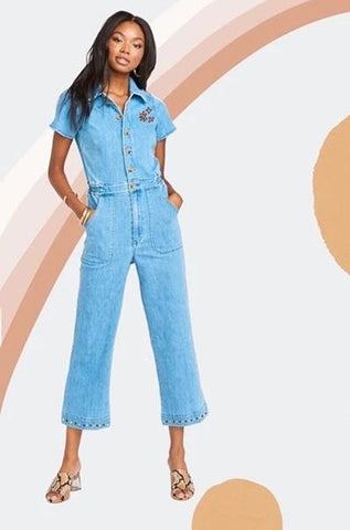 Emery Jumpsuit French Blue
