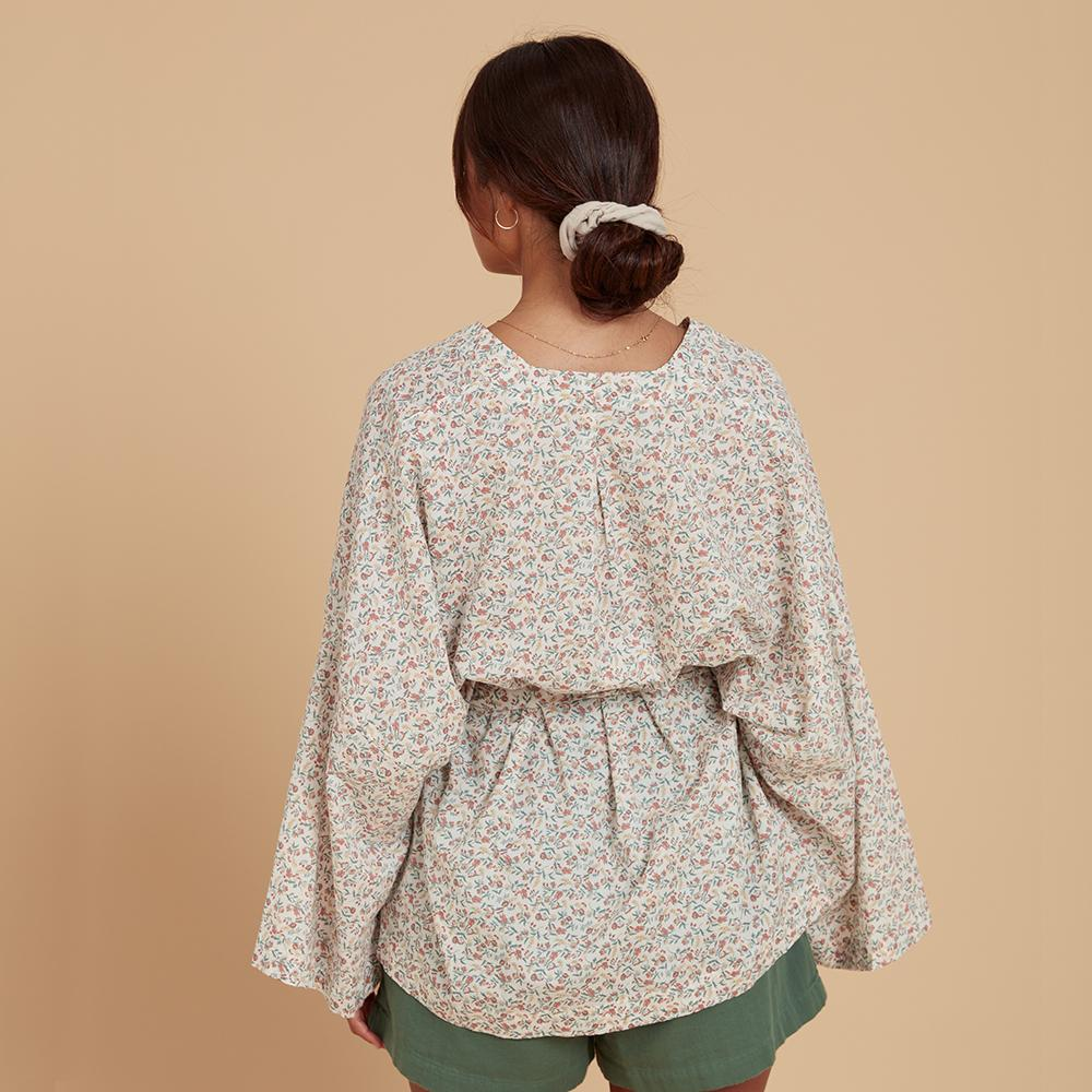 Load image into Gallery viewer, kaya wrap floral back