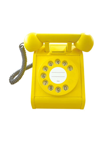kiko+ & gg Wooden Telephone - Yellow