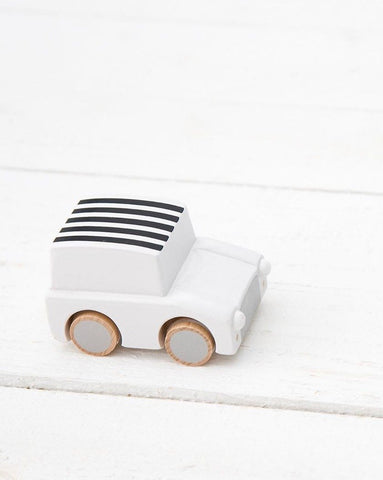 kiko+ & gg Kuruma Wind-up Car - Stripe White