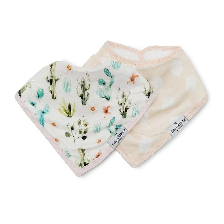 Load image into Gallery viewer, Muslin Bib Set - CACTUS