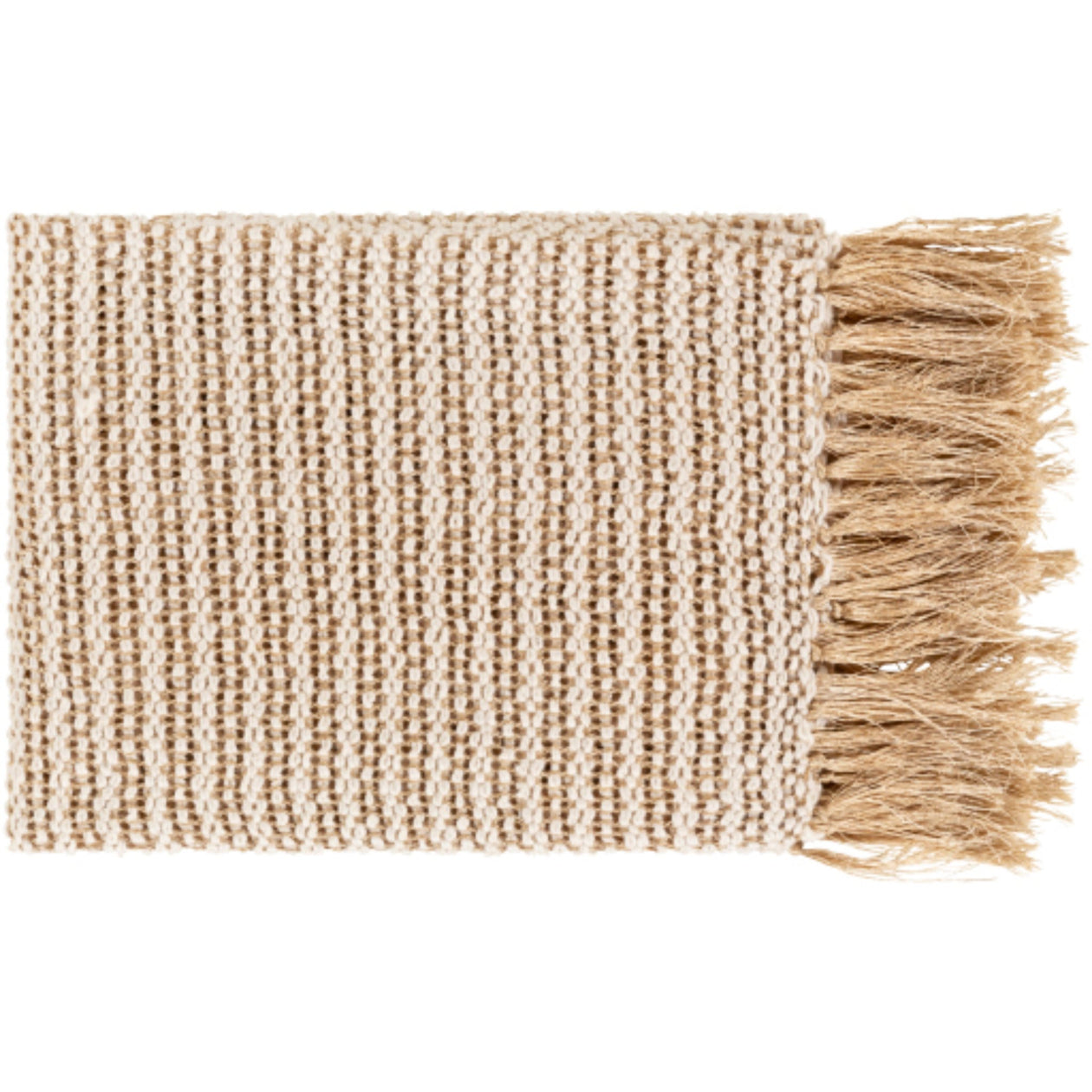 Lanie Throw Blanket - Ivory/Champagne | Surya - Home Décor