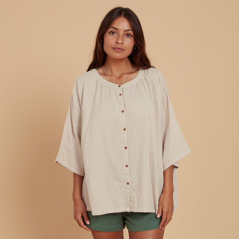 Lilly Pilly Shirt - Oat