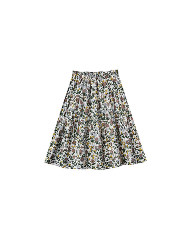 Girls Enchanted Garden Tiered Midi Skirt