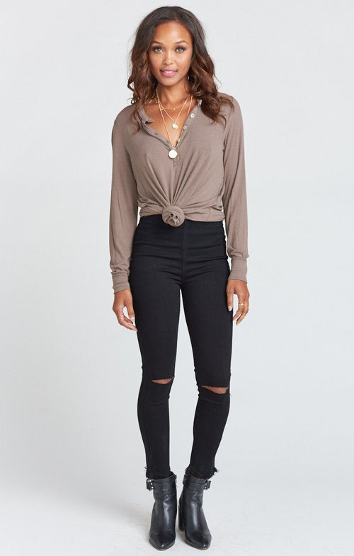 Soho Zip Up Skinnies - Black Lava - Bohemian Mama