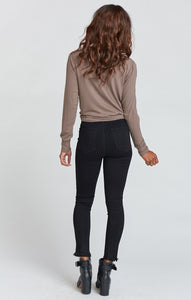Soho Zip Up Skinnies - Black Lava by Show Me Your Mumu