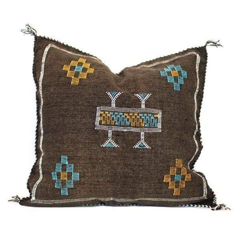 Moroccan Cactus Silk Pillow, Desperado