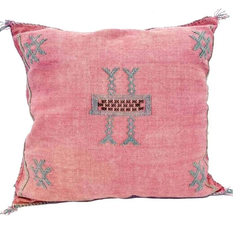 Moroccan Cactus Silk Pillow, Fairy Dust