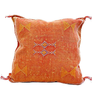 Moroccan Cactus Silk Pillow, Golden Gate