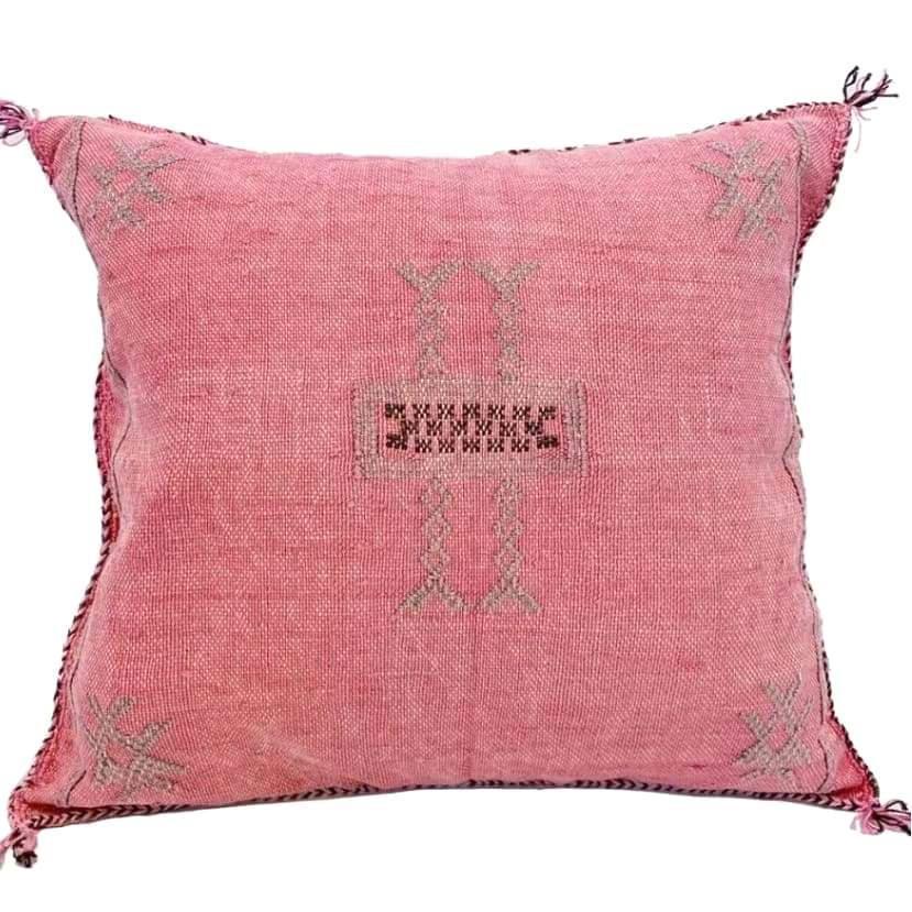 Moroccan Cactus Silk Pillow, Pixie Dust