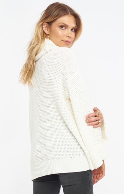 Load image into Gallery viewer, Show Me Your Mumu Hicks Sweater - Cream Waffle