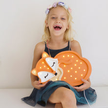 Load image into Gallery viewer, Little Lights Baby Fox Lamp - Orange | Kids Wooden Toys & Nursery Decor