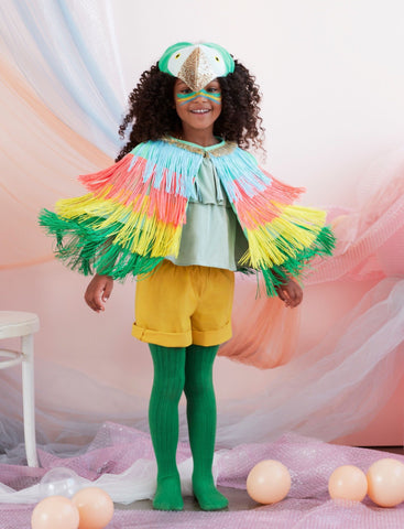 (PRESALE) Parrot Fringed Cape Dress Up