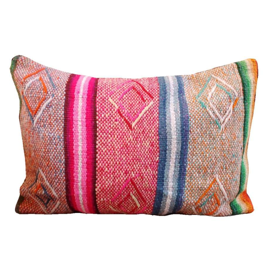 Load image into Gallery viewer, Peruvian Vintage Frazada Pillow Lumbar, Sullan