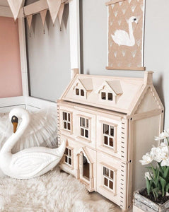 Wooden Victorian Dollhouse | Sustainable  Wooden Toys