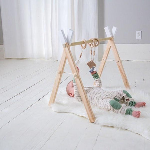 Wooden Play & Activity Gym - White