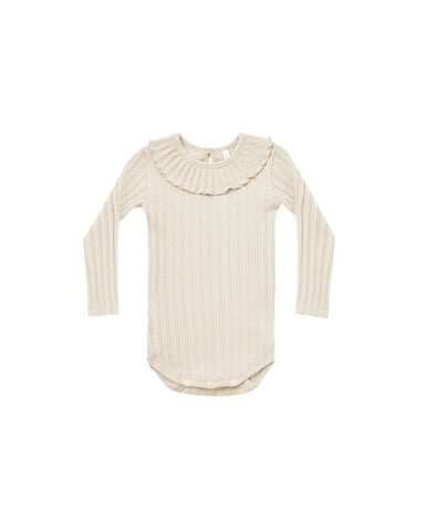 Ruffle Collar Onesie - Natural