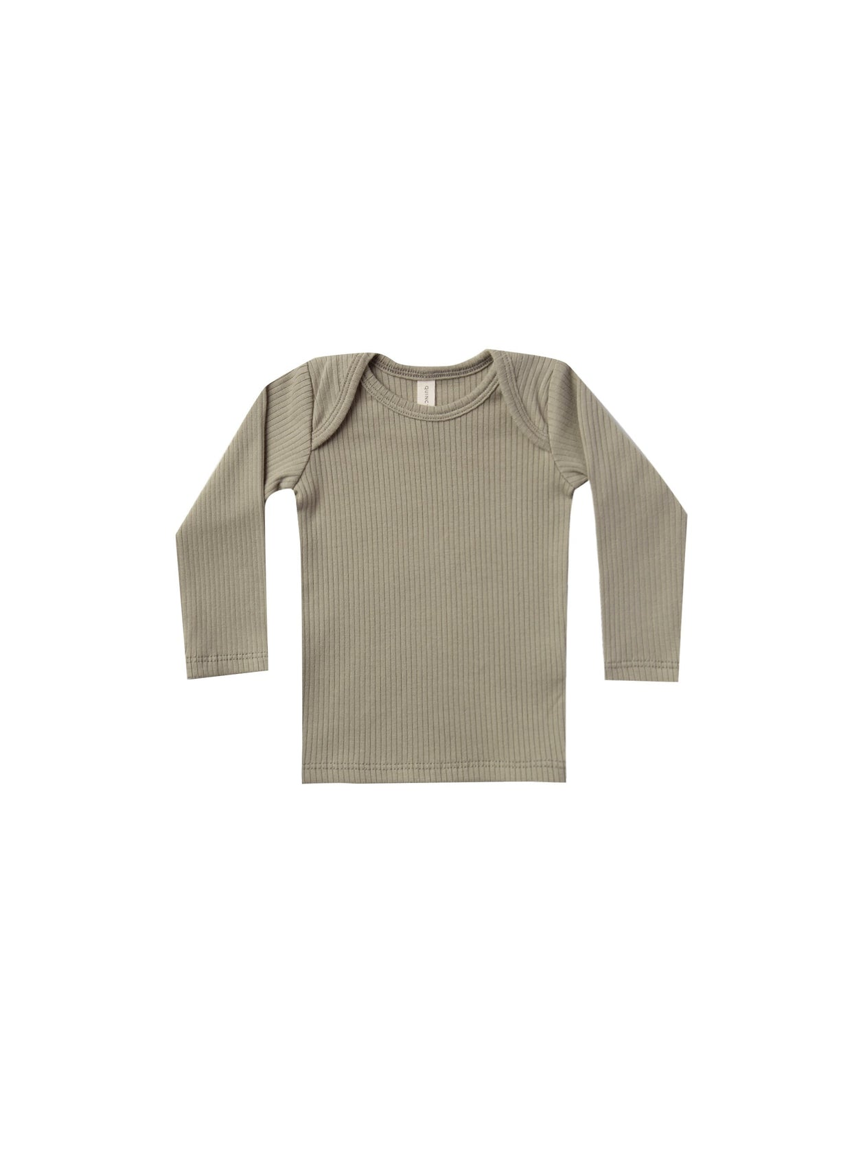 Quincy Mae Ribbed Longsleeve Lap Tee Olive