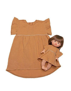 "Presale - Duo Collection - ""DAISY"" Cotton Dress - Camel"