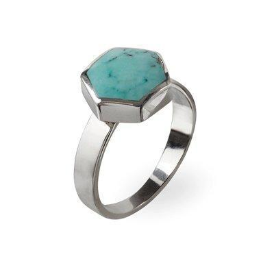 Silver Ring Aria - Turquoise