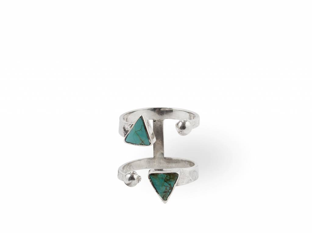 Sterling Silver Ring Ryder - Turquoise by Route508