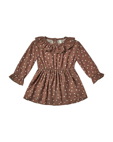Dot Ruffle Collar Baby Dress
