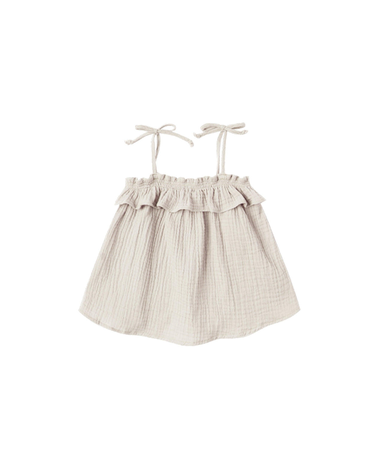 Ruffle Tube Top - Natural