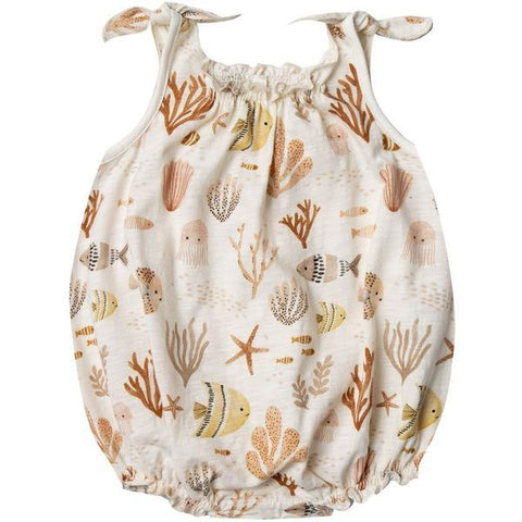 Sea Life Shoulder Tie Onesie