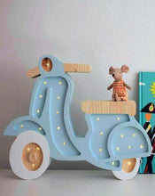 Load image into Gallery viewer, Little Lights Scooter Lamp | Kids Wooden Toys & Nursery Decor