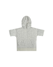 Load image into Gallery viewer,  Rylee & Cru Fern Short Sleeve Hoodie Blue Fog