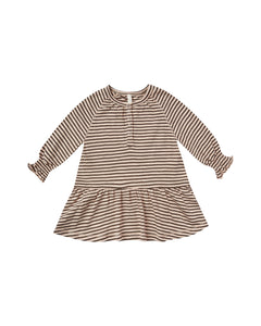 Stripe Swing Dress - Oat/Black