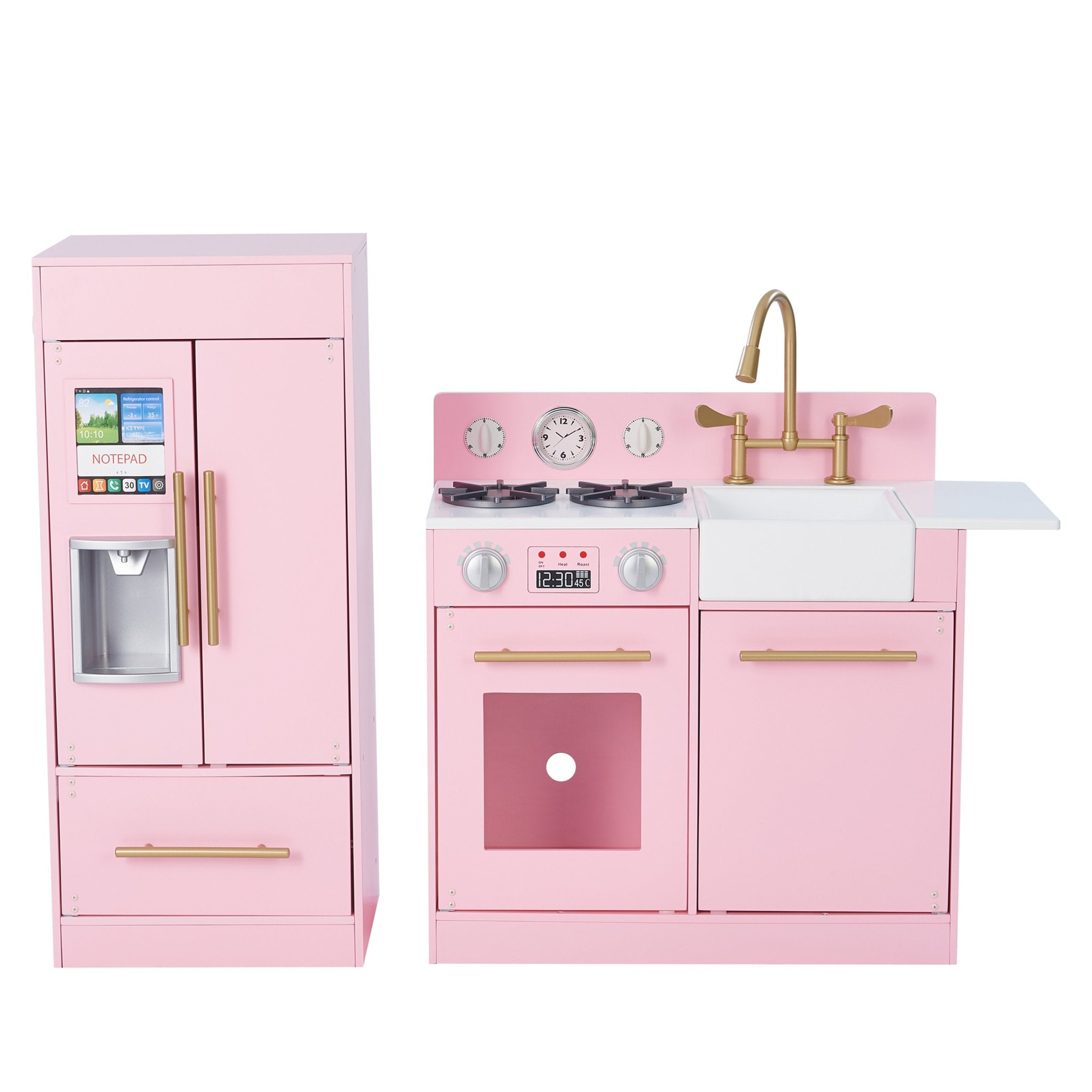 Load image into Gallery viewer, Little Chef Chelsea Modern Play Kitchen - Pink / Gold | Teamson Kids - Costume + Pretend Play - Play Kitchen + Food