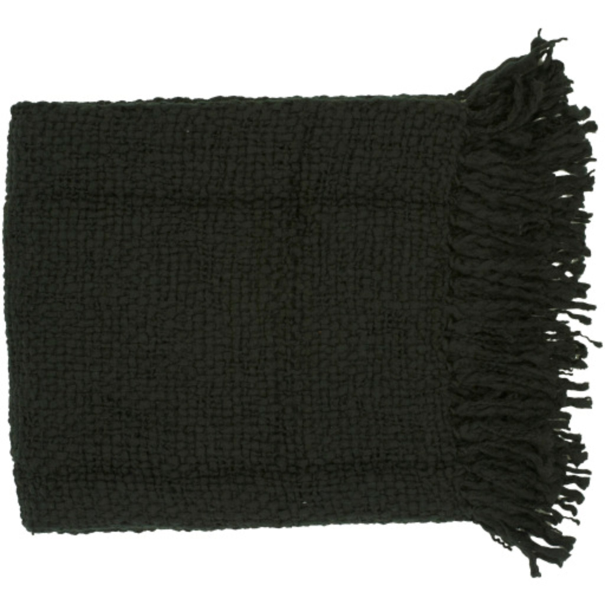 Load image into Gallery viewer, Tobias Throw Blanket - Black | Surya - Home Décor