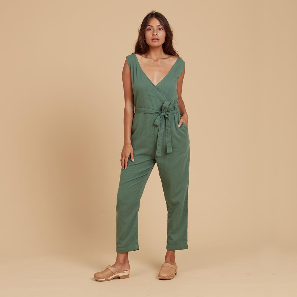 Load image into Gallery viewer, Green jumpsuit