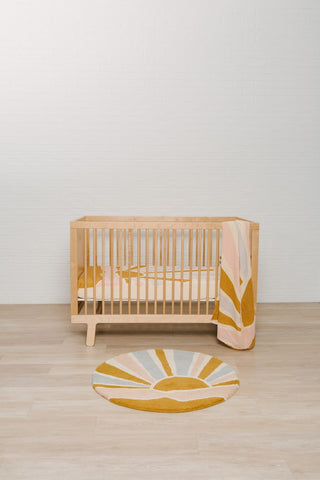 Under the Sunshine 3pc Bundle - Crib Sheet, Swaddle, and Rug