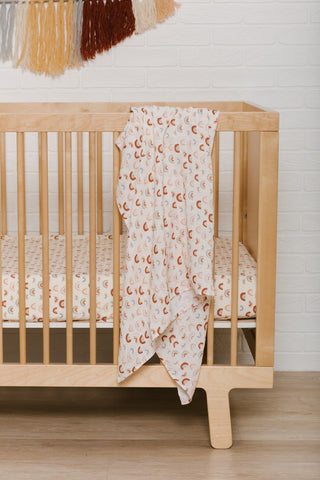 Over The Rainbow Organic Swaddle- Repeat Print