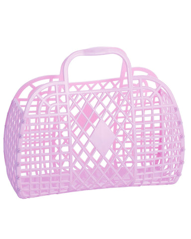 Presale Retro Basket- Small Lilac