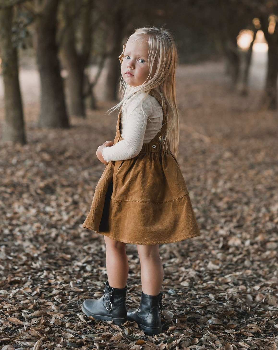 Load image into Gallery viewer, Rylee & Cru Corduroy Pinafore