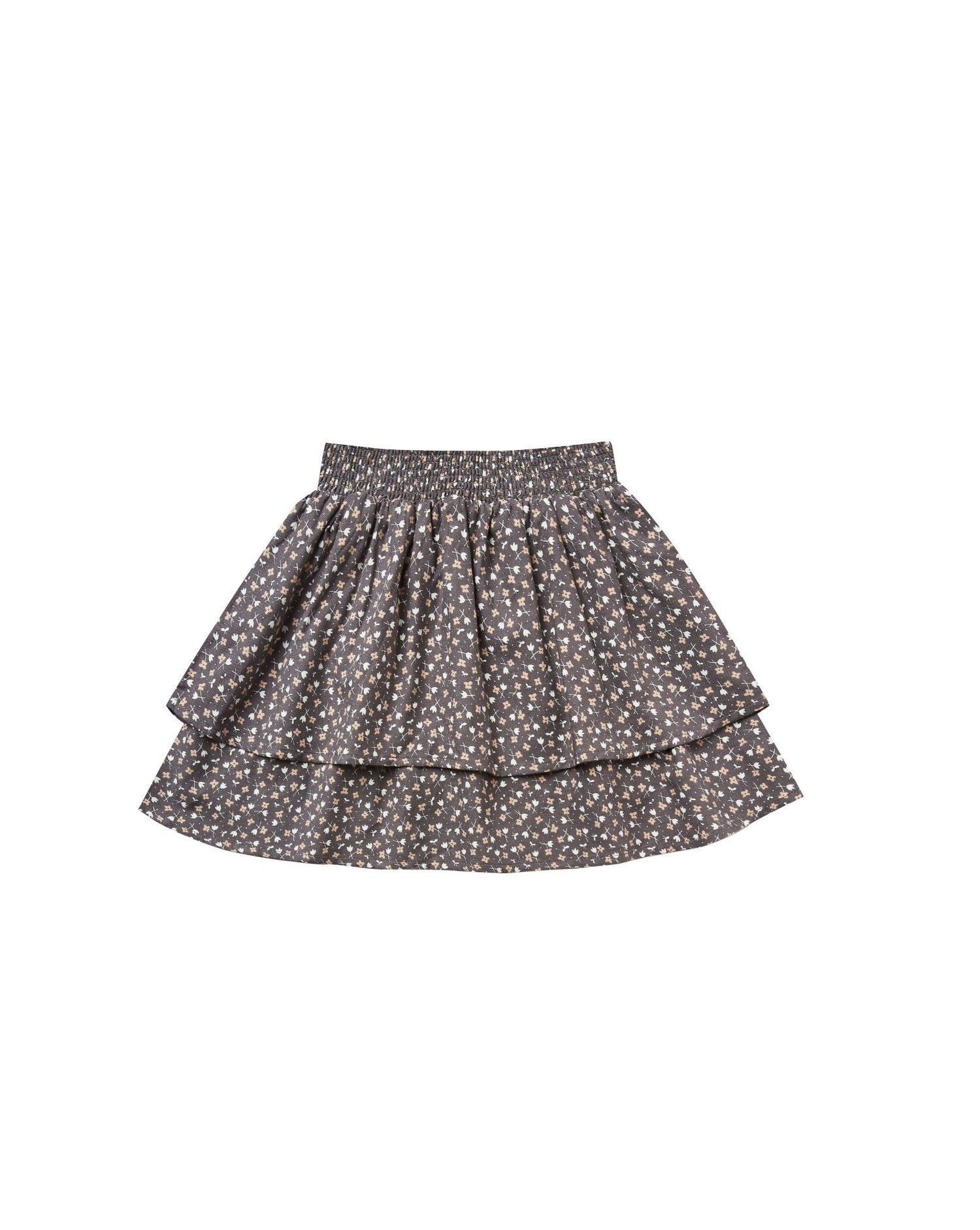 Load image into Gallery viewer, Ditsy Tiered Mini Skirt - Washed Indigo | Rylee & Cru Fall 2020 Enchanted Forest Collection