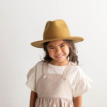 Load image into Gallery viewer, Wes Kids Fedora - Mustard - 53 Kids