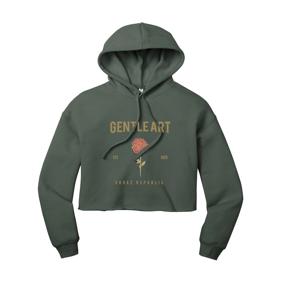 Choke Republic Gentle Art Women's Crop Hoodie - Fighters Market