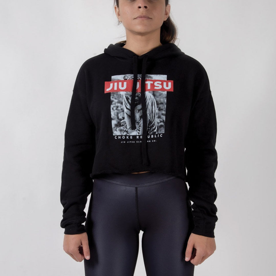 Choke Republic Jiu Jitsu Tiger Women's Crop Hoodie - Fighters Market